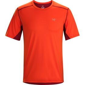 Arc'teryx Accelero Comp SS Shirt Men Flare/Red Beach